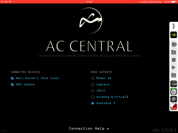 AC Central with Audiobus 3